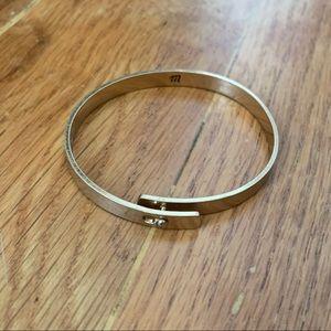 Madewell gold glider bracelet